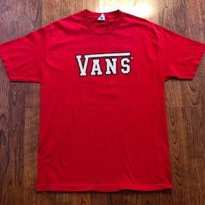 Vans Warped 11 Short Sleeve Tee Shirt Red